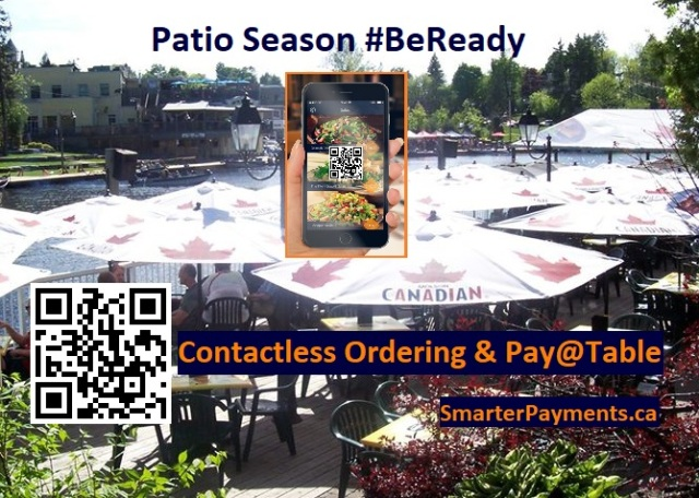 contactless ordering at table tools contactless payments POS online curbside patio table pay-at-table